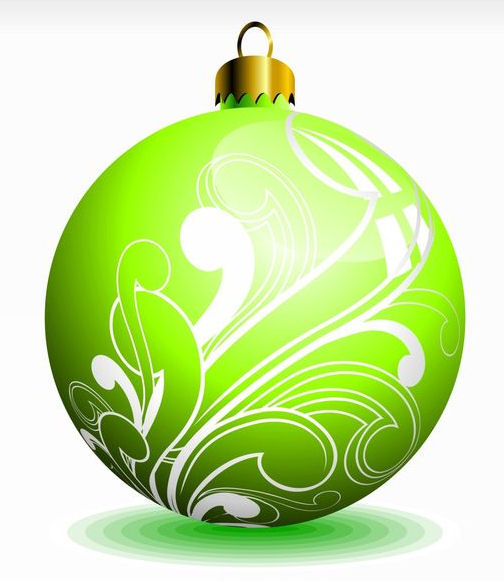 Lime Green Ornament